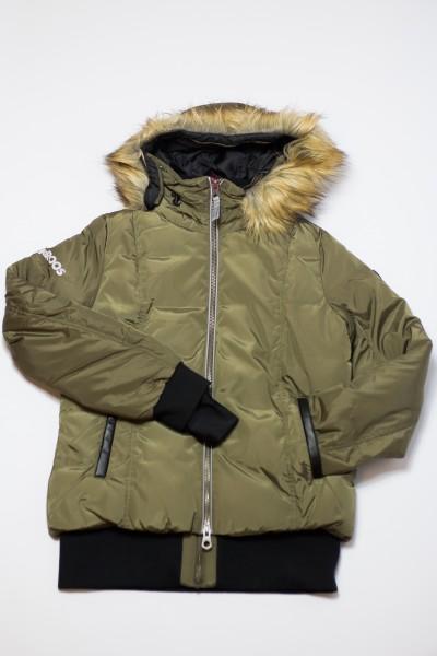 Details zu KangaROOS Damen Daunenjacke Daunen Jacke mit Kunstfell Kragen und Kapuze
