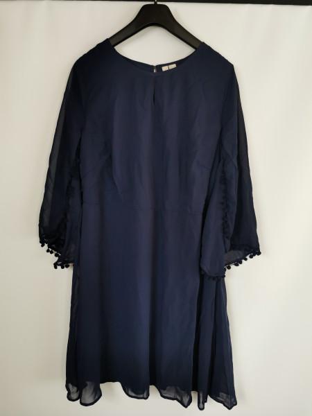 Bodyflirt Kleid mit Flügelärmel, blau, Gr. 48 | eBay